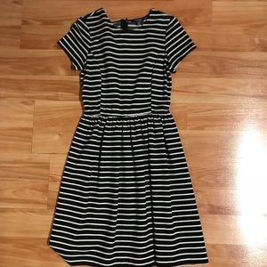 Peter Som black/White fit and flare dress XS